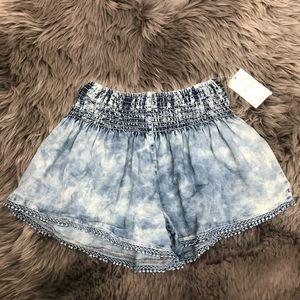 Jessica Simpson | Girls Tie-Dye Blue Flowy Shorts